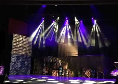 Lighting for Step Up: All In at Motiongate Dubai.
